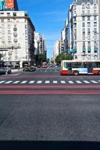 Along Avenida 9 de Julio