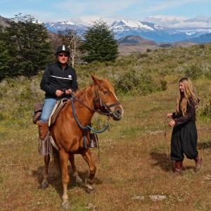 Horseback ridinging in Patagonia