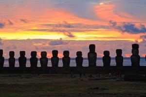 Sunrise at Ahu Tongariki, Sunrise at Ahu Tongariki, Sunrise at Ahu Tongariki