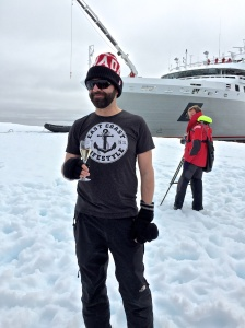 Walking on an Iceberg in the Weddell Sea