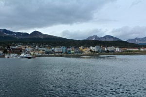 The town of Ushuaia, looking over the Beagle Channel