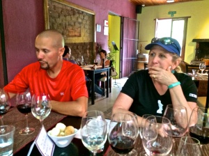 Our lunch at Clos de Chacras with Biciclismo Guide Extraordinaire, Luis