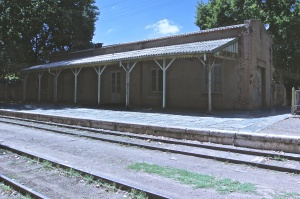 The old Chacras de Coria train station