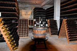 Sparkling wine tasting at Cruzat