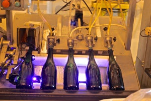 Bottling machine for sparkling wines of Cruzat
