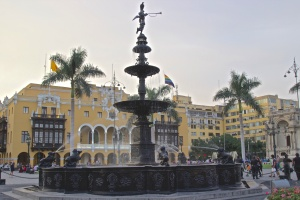 Central plaza in downtown Lima