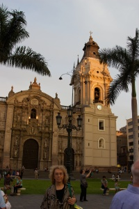 The cathedral on the central plaza