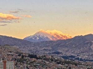 Sunset over La Paz