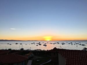 Sunset at Lake Titicaca