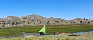 First sight of Lake Titicaca