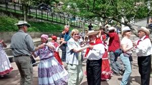 Seniors' Cumbia Demonstration