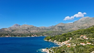 Driving back from Hvar to Dubrovnik